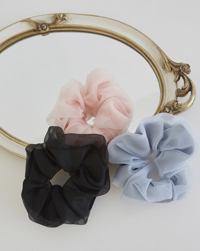 AC0007/Chiffon Color Scrunch Band_3c