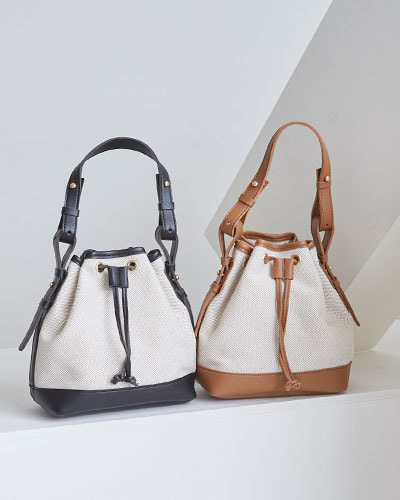 BAG3023/Cotton Bucket Mini Backpack_2c